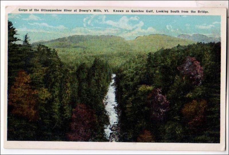 Gorge Ottauquechee River, Dewey's Mills VT