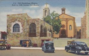 JUAREZ, Old Mexico, 1930-1940's; Old Guadalupe Mission, Classic Cars