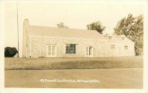 Mt Pleasant Country Club, Mt Pleasant, MI Real Photo Postcard
