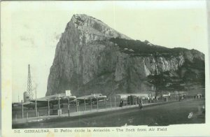 92353 - GIBRALTAR - VINTAGE   POSTCARD -  ROCK from the AIRFILED!