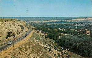 Billings Montana Rimrock Airport aerial view 1950's Postcard
