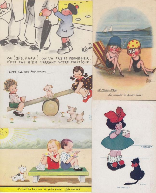 CHILDREN ENFANTS ARTIS SIGNED AND REAL PHOTO 166 Cartes Postales 1900-1940