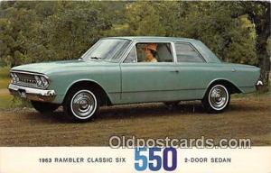 Postcard Post Card 1963 Rambler Classic Six 550 2 Door Sedan