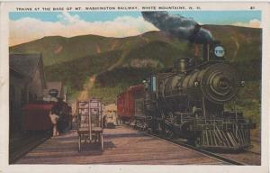 MT WASHINGTON NH RAILROAD STATION 1920s - NOT Cog Railroad