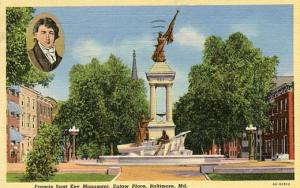 MD - Baltimore, Francis Scott Key Monument, Eutaw Place