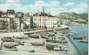 France, Menton, Un coin de la Vieille Ville, early 1900s ...
