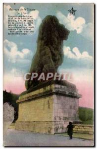 Belgie Belgium Old Postcard Gileppe Dam lion