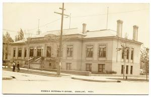 Cadillac MI Cobbs & Mitchell's Office Real Photo RPPC Postcard