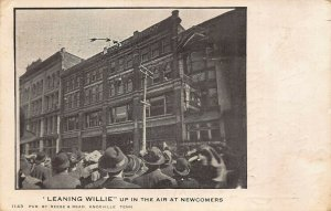 Knoxville TN Leaning Willie Up in the Air at Newcomers Store Postcard