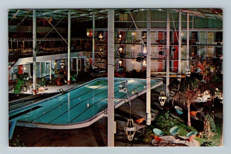 Lexington KY-Kentucky, Continental Inn, Swimming Pool, Chrome c1968 Postcard
