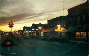Portage La Prairie Manitoba~Night Lights~Jimmy's Cafe~Perth's~Tip Top~1950s