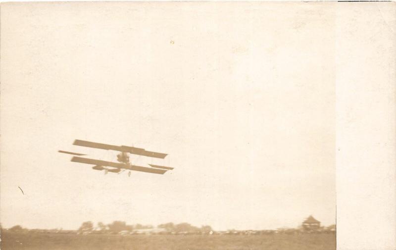 F25/ Interesting RPPC Photo Postcard c1910 Early Biplane Aviation 13