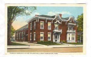 Thursday Morning Club and Walker Hall, Great Barrington, Massachusetts, 10-20s
