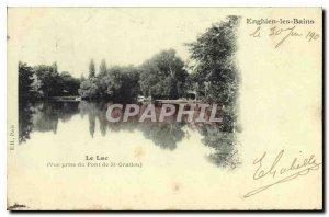 Post Card Old Lake (View from the Bridge St Gratien) Enghien les Bains