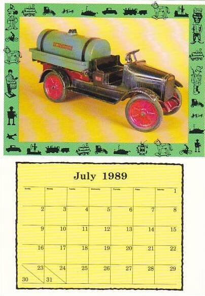 1989 Calendar Series July Buddy L Tanker Truck