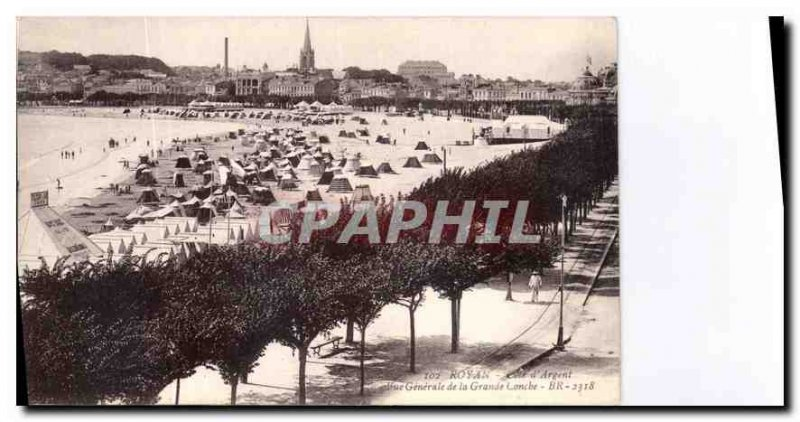 Old Postcard Royan Cote d'Argent general view of the large conch