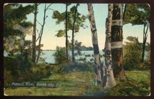 h2212 - NORTH BAY Ontario Postcard 1912 French River