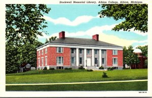 Michigan Albion Stockwell Memorial Library Albion College Curteich