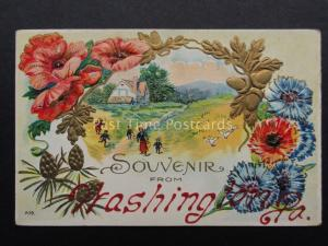 Poppies: Embossed Souvenir from WASHINGTON P.A. - Donate to R.B.L.