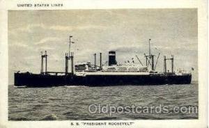 SS President Roosevelt Steamer Postcard Postcards  SS President Roosevelt