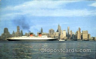 SS Ile De France, New York City Steamer Ship Unused light wear on top edge, c...