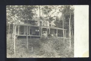 RPPC TOLLESTON INDIANA ADAMSON RESIDENCE HOUSE HOUTONIA REAL PHOTO POSTCARD