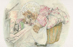 The Tale Of Miss Tiggy Winkle 1905 Beatrix Potter Book Postcard