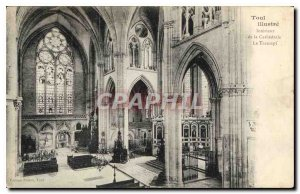 Old Postcard Toul Illustrates Interior of the Cathedral Transept