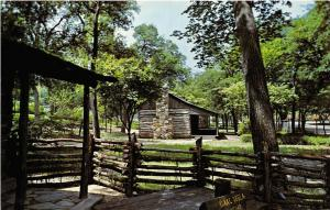 Fort Worth Texas 1960s Postcard Texas Log Cabin Village Forest Park
