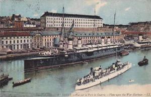 BREST, Vue sur l aPort de Guerra, View upon the War Harbour, Finistere, Franc...