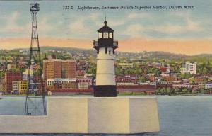 Lighthouse, Entrance Duluth-Superior Harbor, Duluth, Minnesota, PU-30-40s