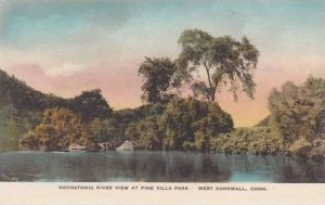 Connecticut West Cornwall Housatonic River View At Pine Villa Park Albertype