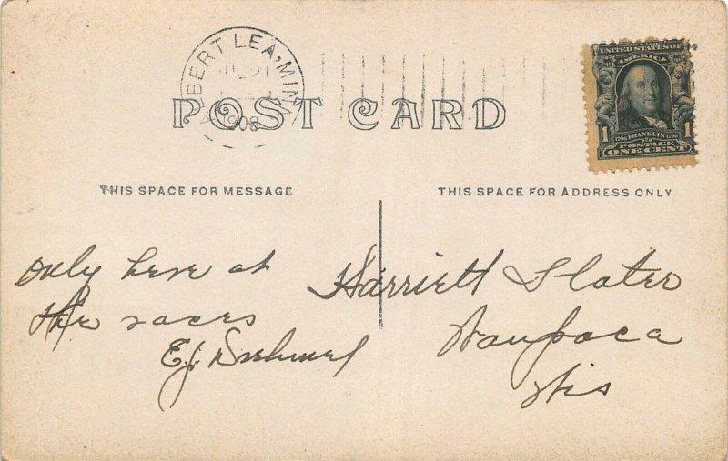ALBERT LEA, MINNESOTA BLACKMER BRIDGE & DRIVEWAY1908 RPPC REAL PHOTO POSTCARD
