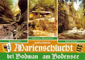Marienschlucht bei Bodman am Bodensee, Marienschlucht, Restaurant Ruine Kargegg