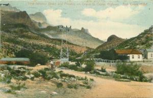 Arizona Fish Creek Hotel Highway Globe Phoenix 1913 Postcard hand colored 5725