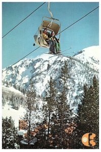 Vintage Ski Country, U.S.A Copper Mountain, Lift Chair Colorado Postcard 4 x 6