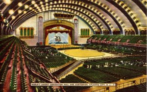 NJ - Atlantic City. World's Largest Convention Hall & Auditorium Interior