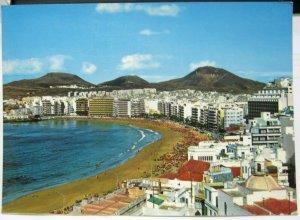 Spain Las Palmas de Gran Canaria Vista Panoramica Playa de Las Canteras - posted