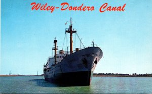 New York Massenna Freighter Leapaul On Wiley-Dondero Canal St Lawrence Seaway