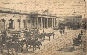 France - Montpellier 1870 La gare 01.88