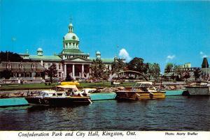 Canada Confederation Park and City Hall Kingston Ontario River Boats