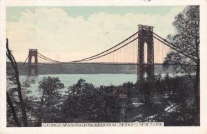 George Washington Memorial Bridge - New York City - pm 1940 - WB