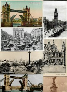UK Piccadilly Circus Tower Bridge Westminster And More Lot of 19 Postcards 01.07