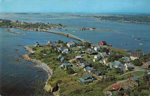 Orr's Island Maine Bailey Island Aerial View Vintage Postcard JA4741443