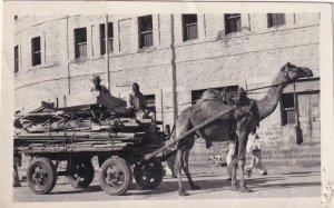 RPPC: 1951, Camel Drawn Cart, Pakistan, Used (PC1447)