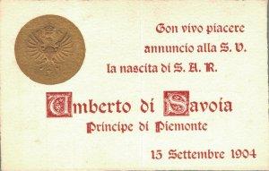 Military Italy Umberto di Savoia Principe di Piemonte 1904 06.64