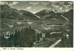Italy, Valle di Fiemme, Trentino, used real photo Postcard