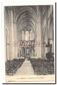 Troyes Old Postcard The cathedral nave and choir