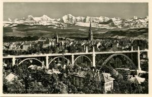 Switzerland - Bern and the Alps  *RPPC