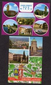 Czechoslovakia Lot 2 Jablonec nad Nisou Postcards Czech Republic Ceskoslovensko